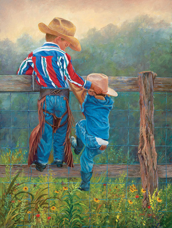 Cowboy Up Countryside Jigsaw Puzzle