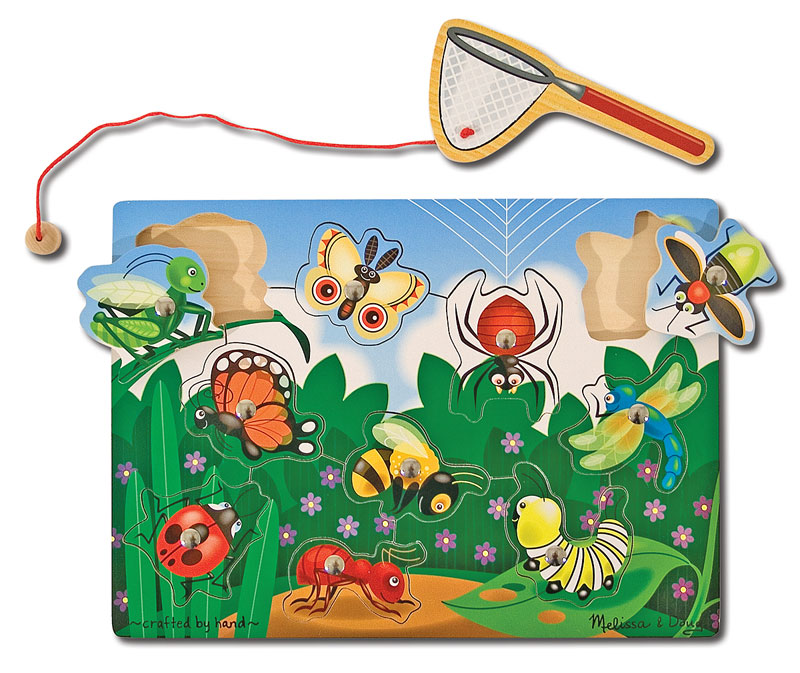 Magnetic Puzzle - Bug-Catching Butterflies and Insects Jigsaw Puzzle