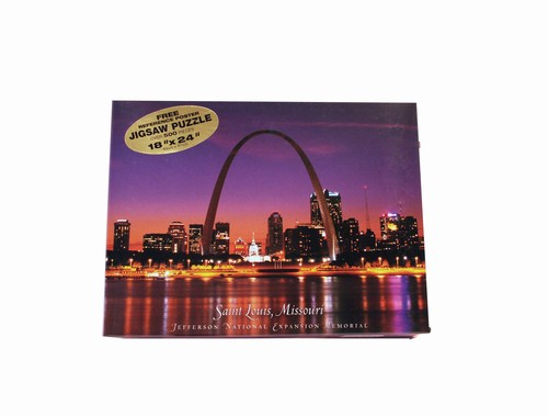 St. Louis Skyline at Night Landmarks Jigsaw Puzzle