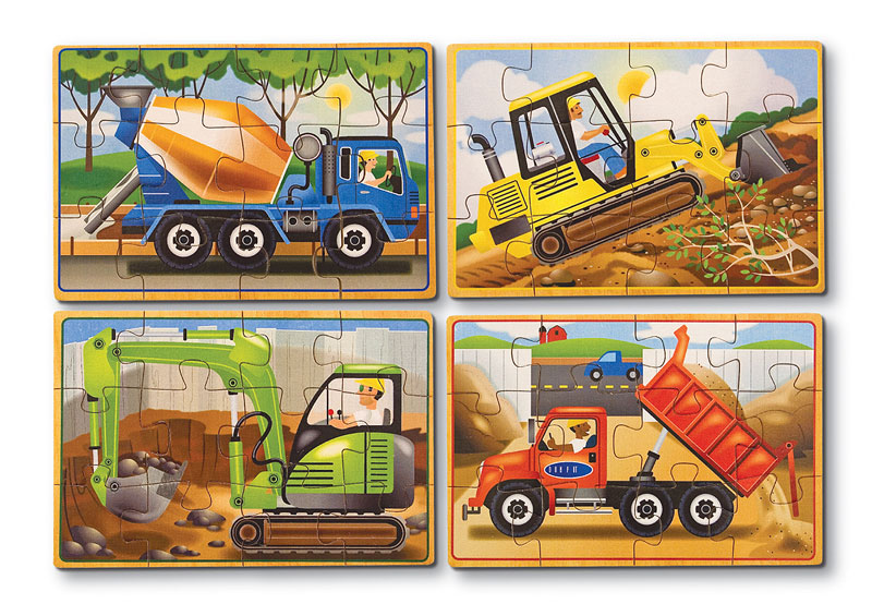Construction Puzzles In A Box Wooden Jigsaw Puzzle