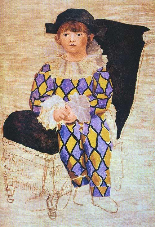 Paul En Arlequin, 1924 Fine Art