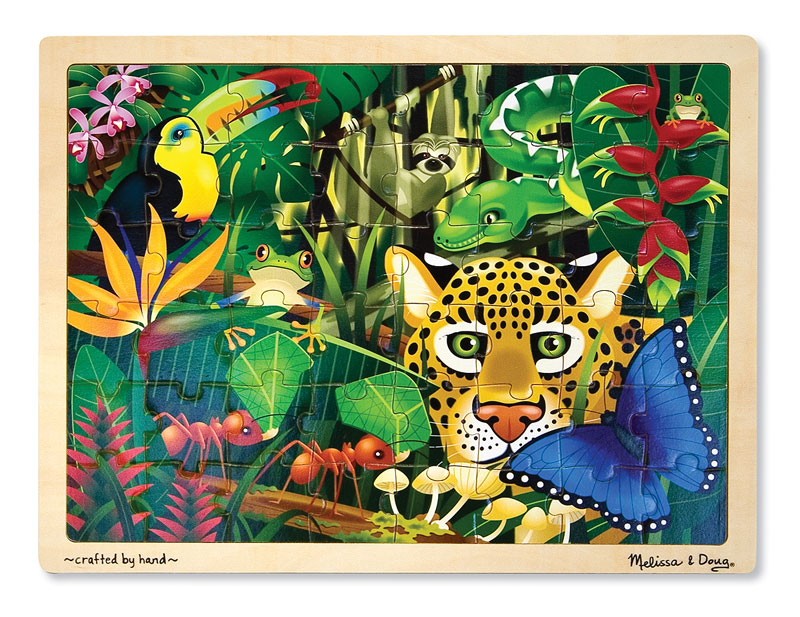 Rain Forest Jigsaw Jungle Animals Children's Puzzles