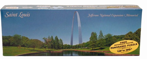 Saint Louis Arch Reflection Landmarks Jigsaw Puzzle