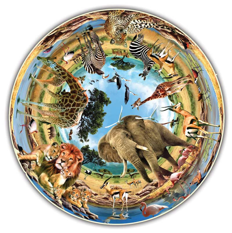 Cradle of Life Jungle Animals Jigsaw Puzzle