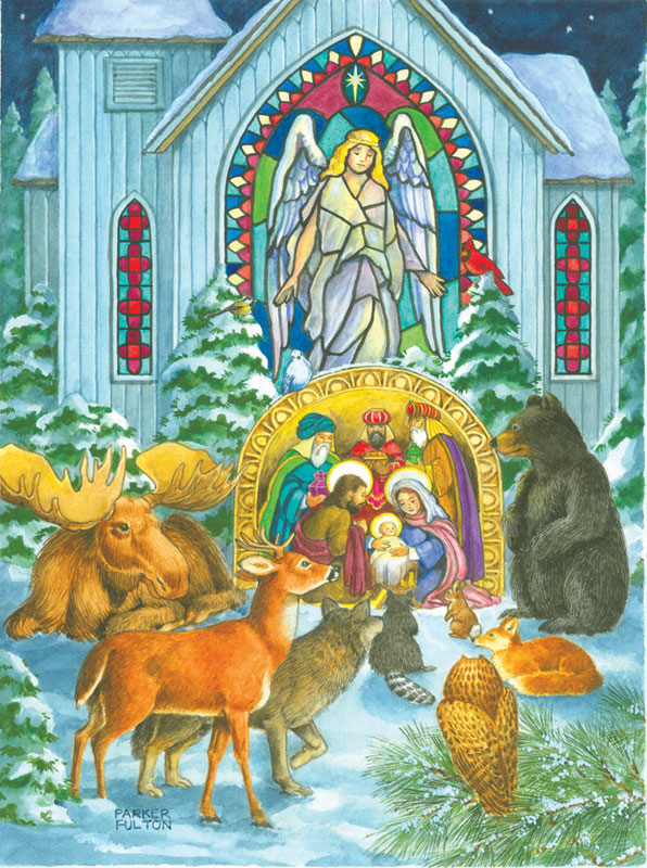 Nativity in the Woods Religious Jigsaw Puzzle