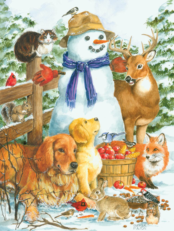 Frosty Friends Christmas Jigsaw Puzzle