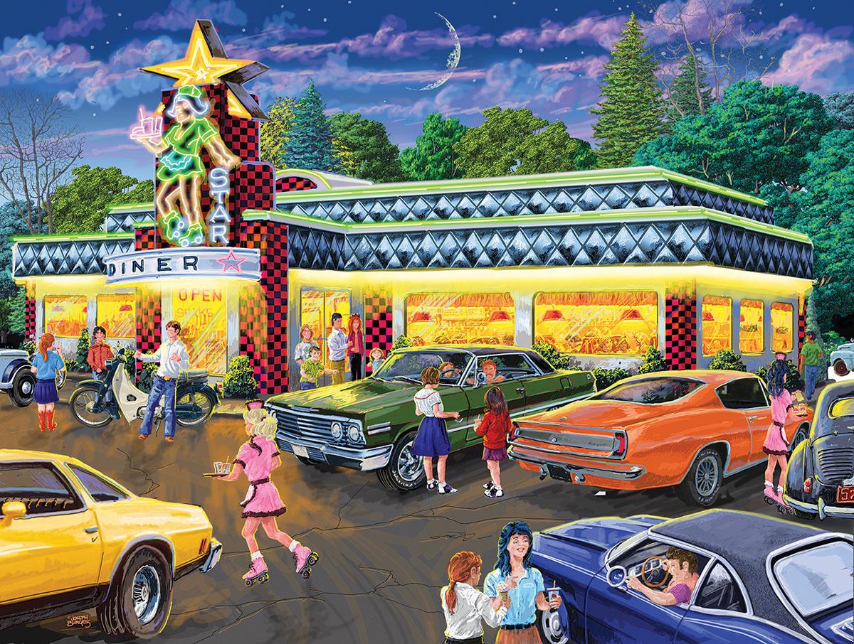 Star Diner Nostalgic / Retro Jigsaw Puzzle