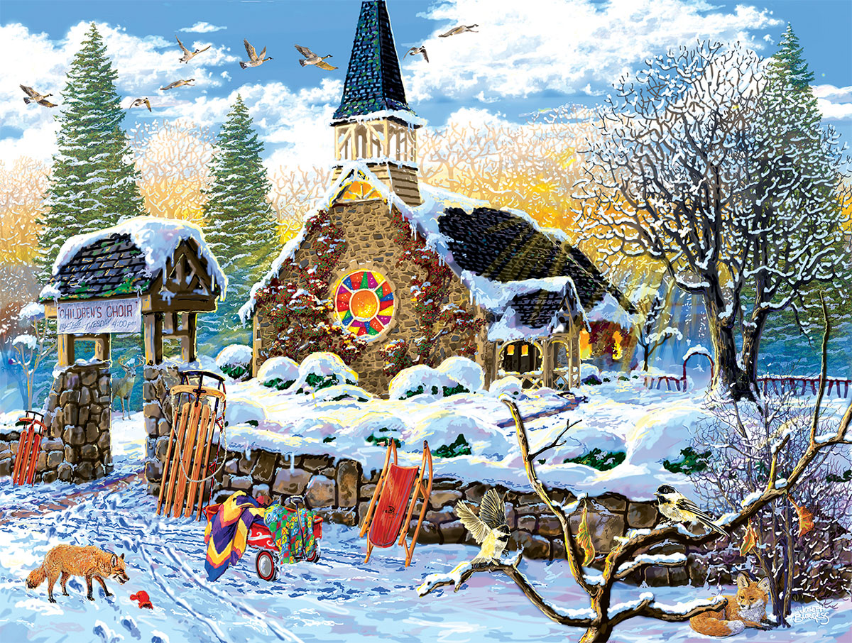 Children's Choir Winter Jigsaw Puzzle