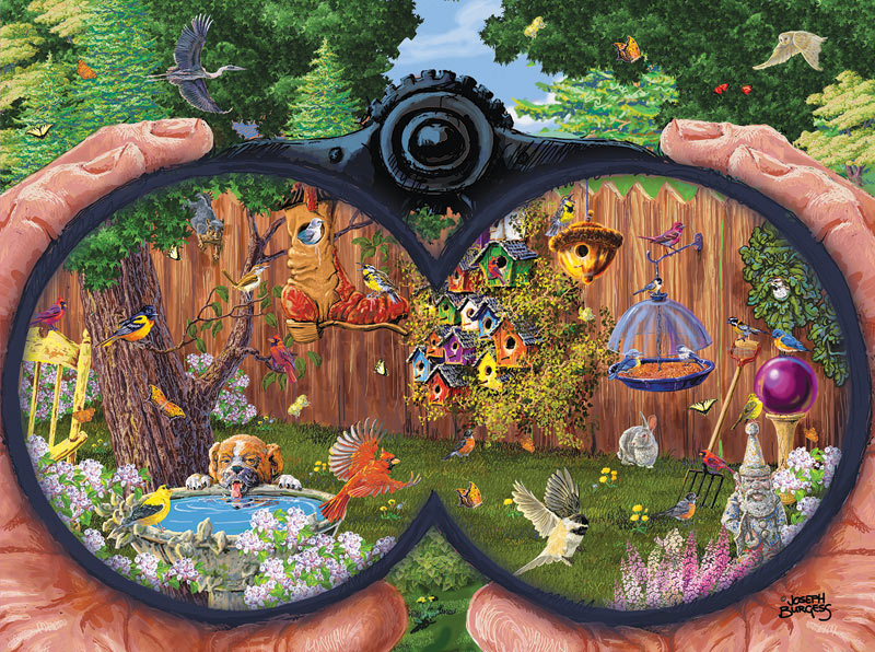 Bird Watching Birds Jigsaw Puzzle