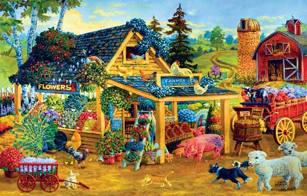 Fresh Fruits and Flowers Animals Jigsaw Puzzle