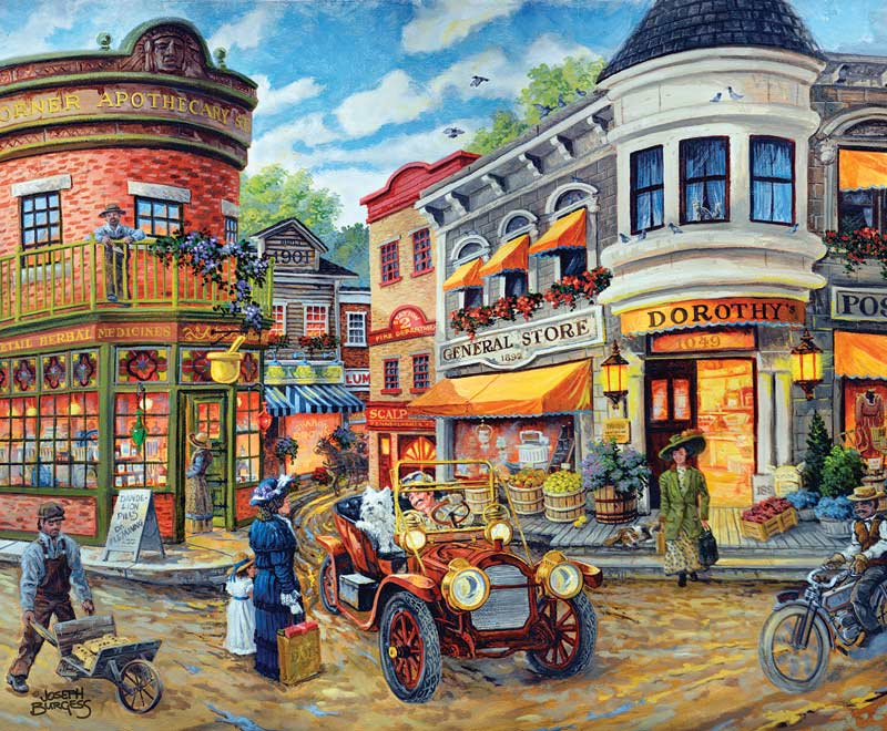 Dorothy S Busy Intersection Jigsaw Puzzle