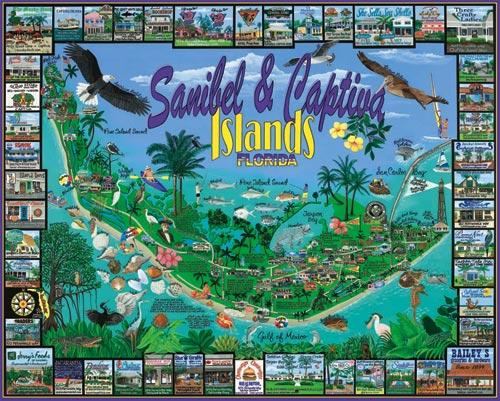 Sanibel & Captiva, FL Maps Jigsaw Puzzle