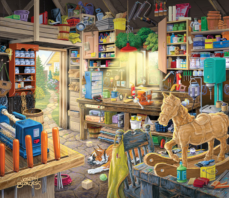 Pap Pap S Tool Shed Jigsaw Puzzle Puzzlewarehouse Com