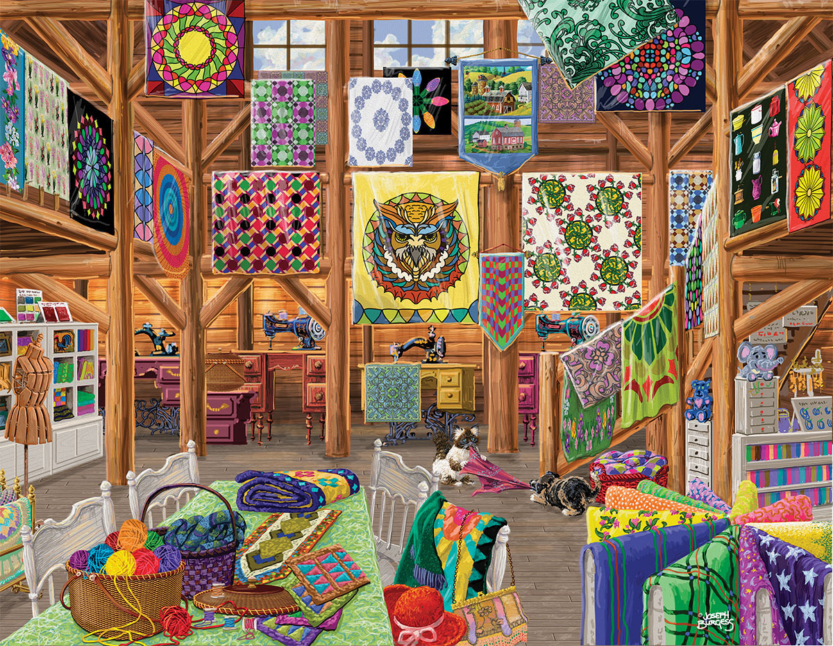 Quilted with Love Crafts & Textile Arts Jigsaw Puzzle
