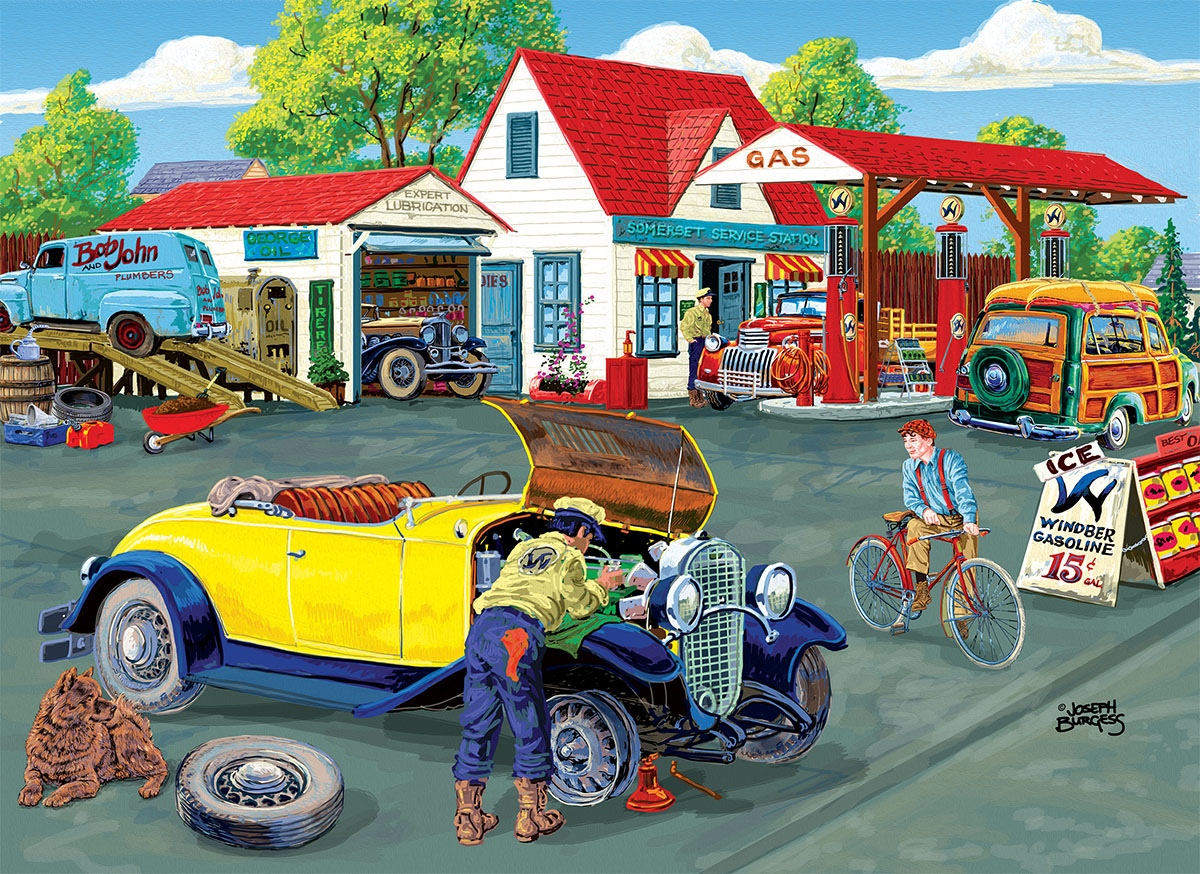 Somerset Service Station Cars Jigsaw Puzzle