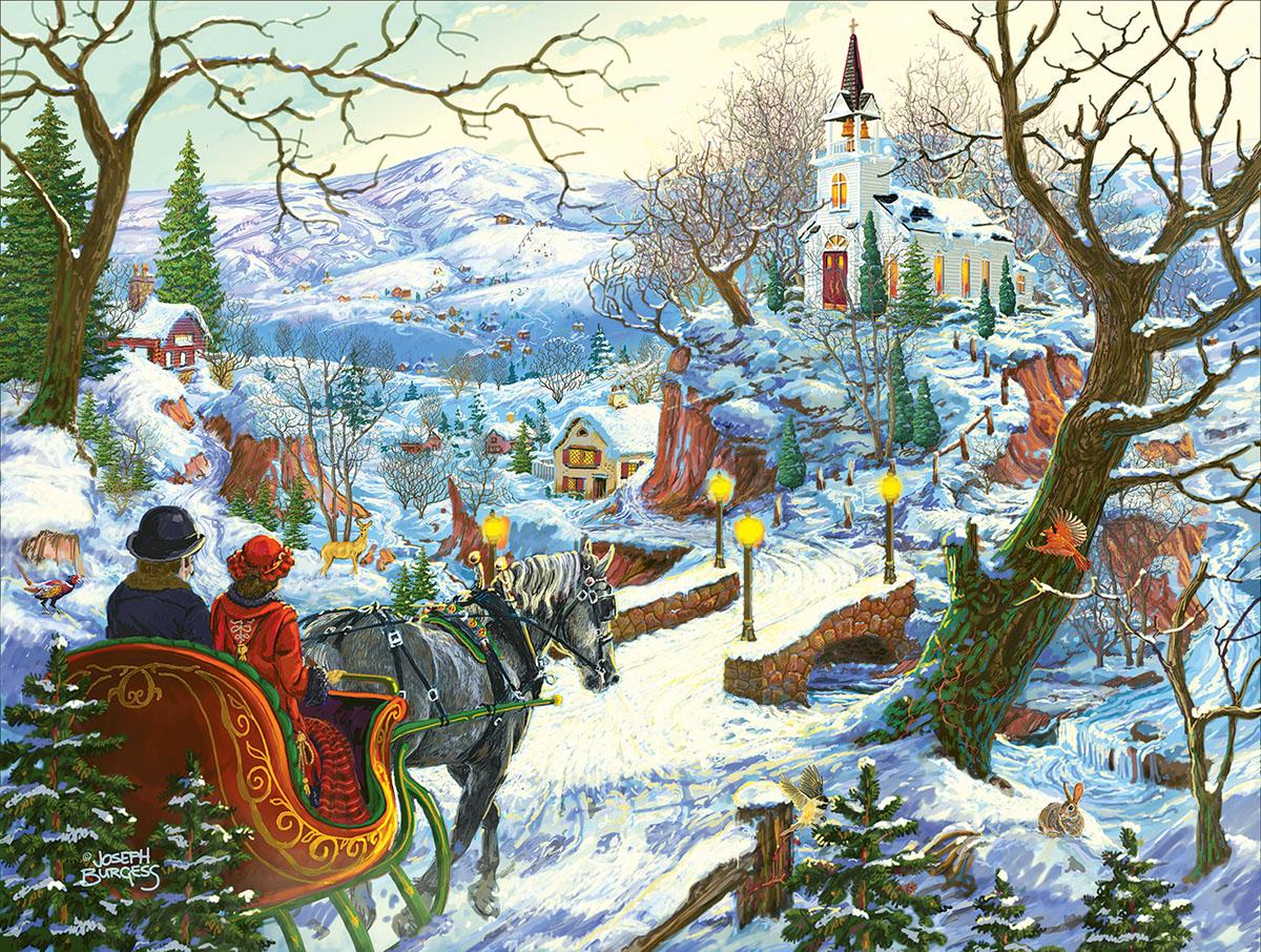 One Snowy Day Nostalgic / Retro Jigsaw Puzzle