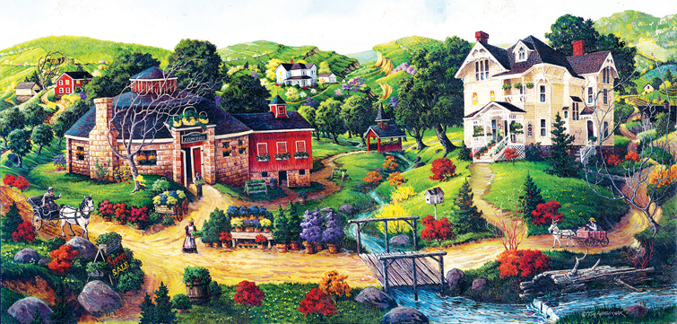 Carol's Flowers - Scratch and Dent Countryside Jigsaw Puzzle
