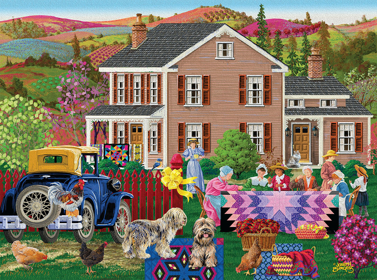 Quilting Bees Crafts & Textile Arts Jigsaw Puzzle