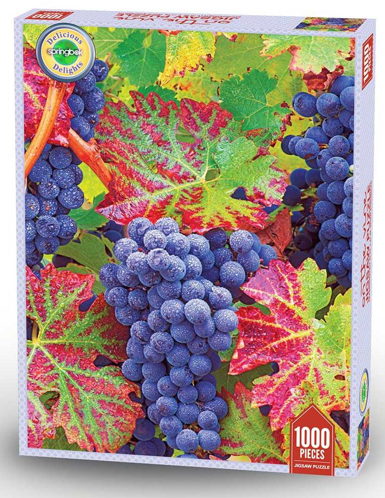 Grapes On The Vine Food and Drink Jigsaw Puzzle