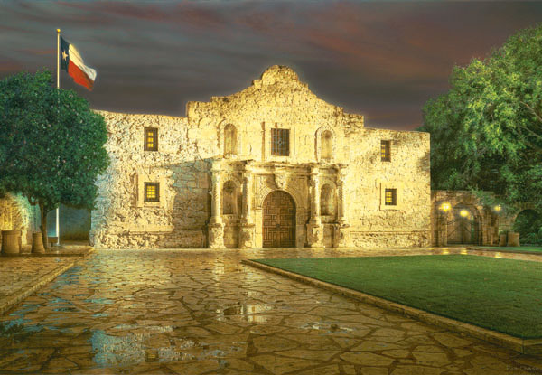 The Alamo Landmarks Jigsaw Puzzle