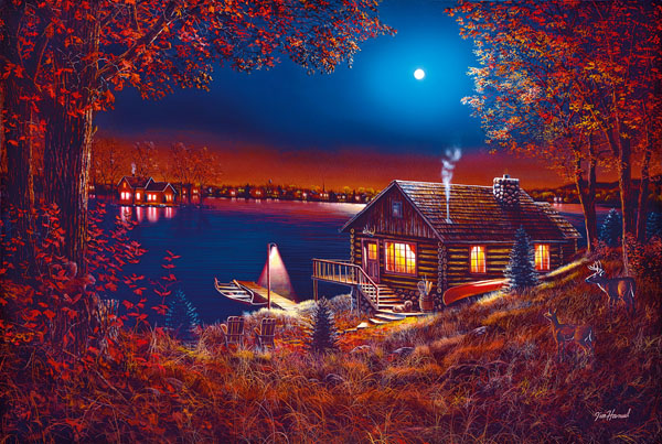 Evening Serenity Fall Jigsaw Puzzle