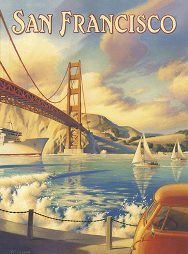 San Francisco Nostalgic / Retro Jigsaw Puzzle