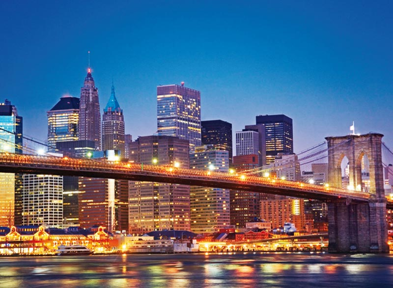 New York Brooklyn Bridge - Scratch and Dent Skyline / Cityscape Jigsaw Puzzle