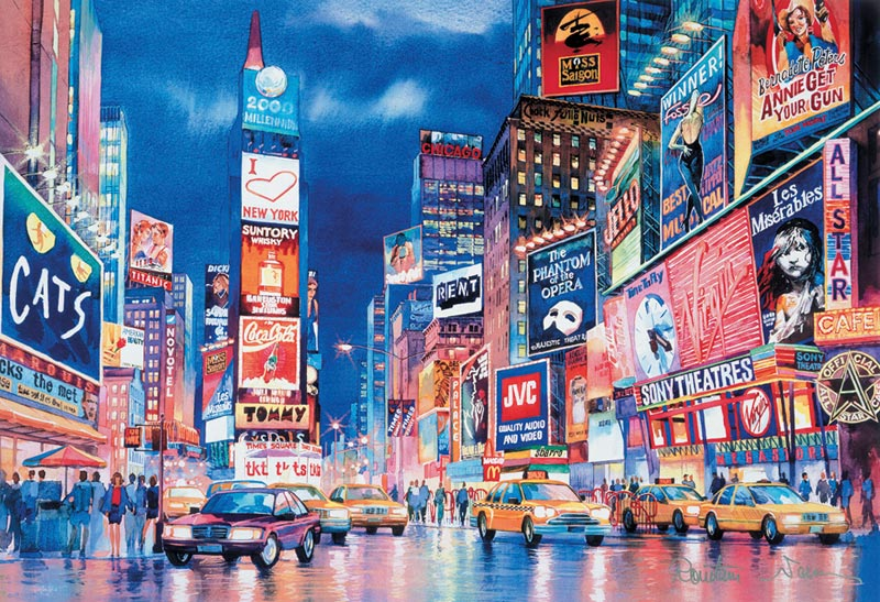 New York Lights - Scratch and Dent New York Glow in the Dark Puzzle