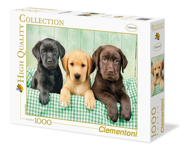 Three Labs Dogs Jigsaw Puzzle