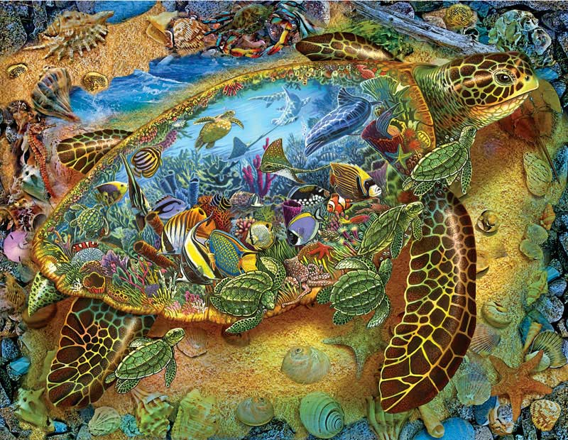 Sea Turtle World Under The Sea Jigsaw Puzzle