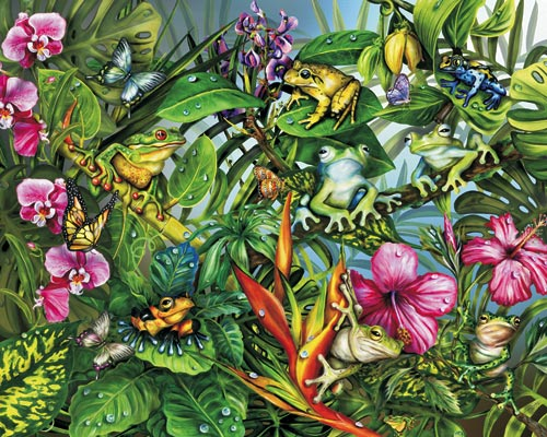 Frogs Gone Wild Reptiles and Amphibians Jigsaw Puzzle