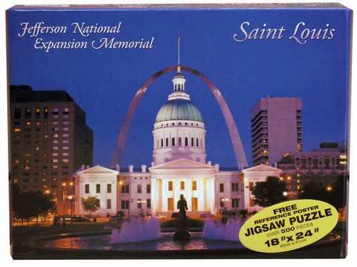 Saint Louis Old Courthouse Landmarks Jigsaw Puzzle
