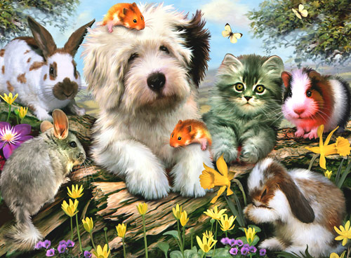 Furry Friends Dogs Jigsaw Puzzle