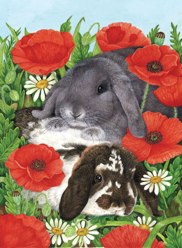 Red Poppies Other Animals Jigsaw Puzzle