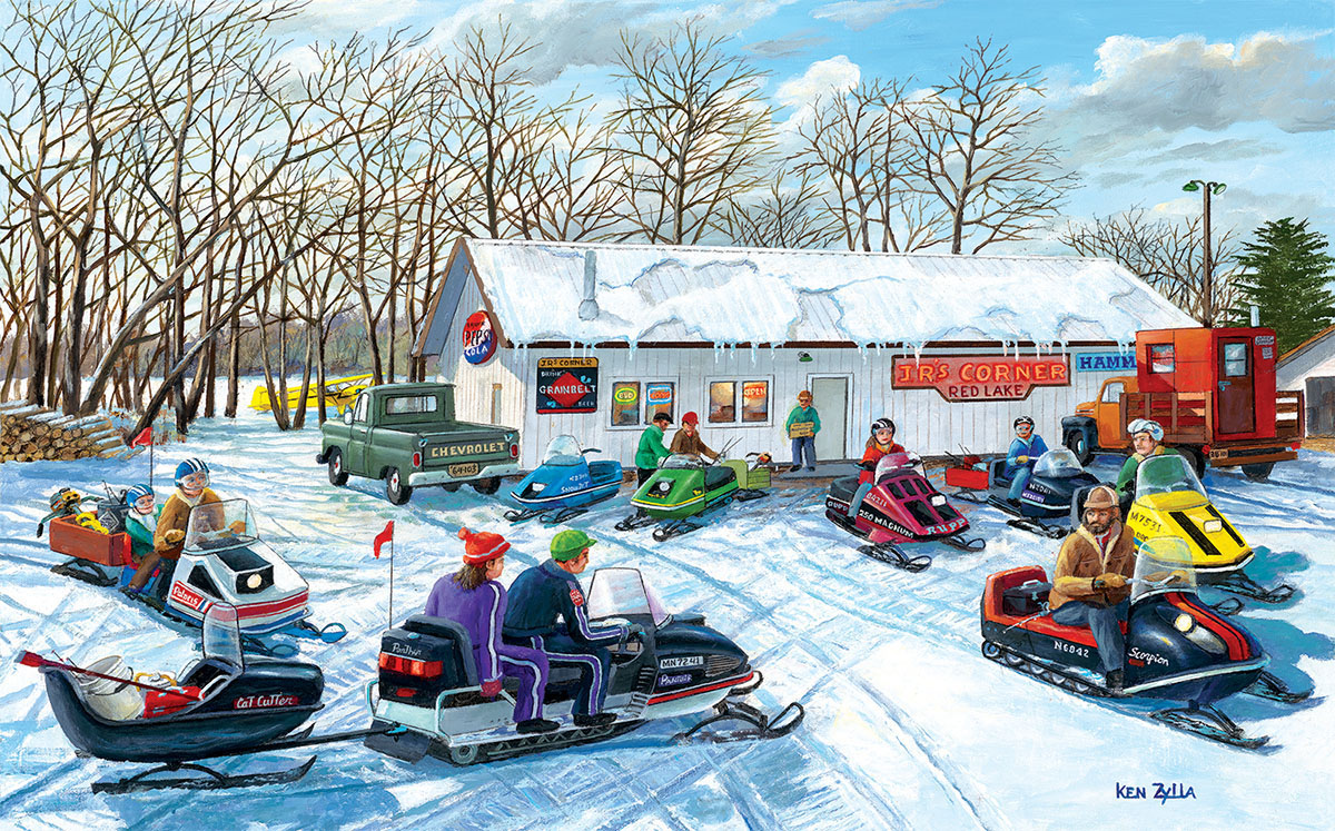 Red Lake Rendevous Winter Jigsaw Puzzle