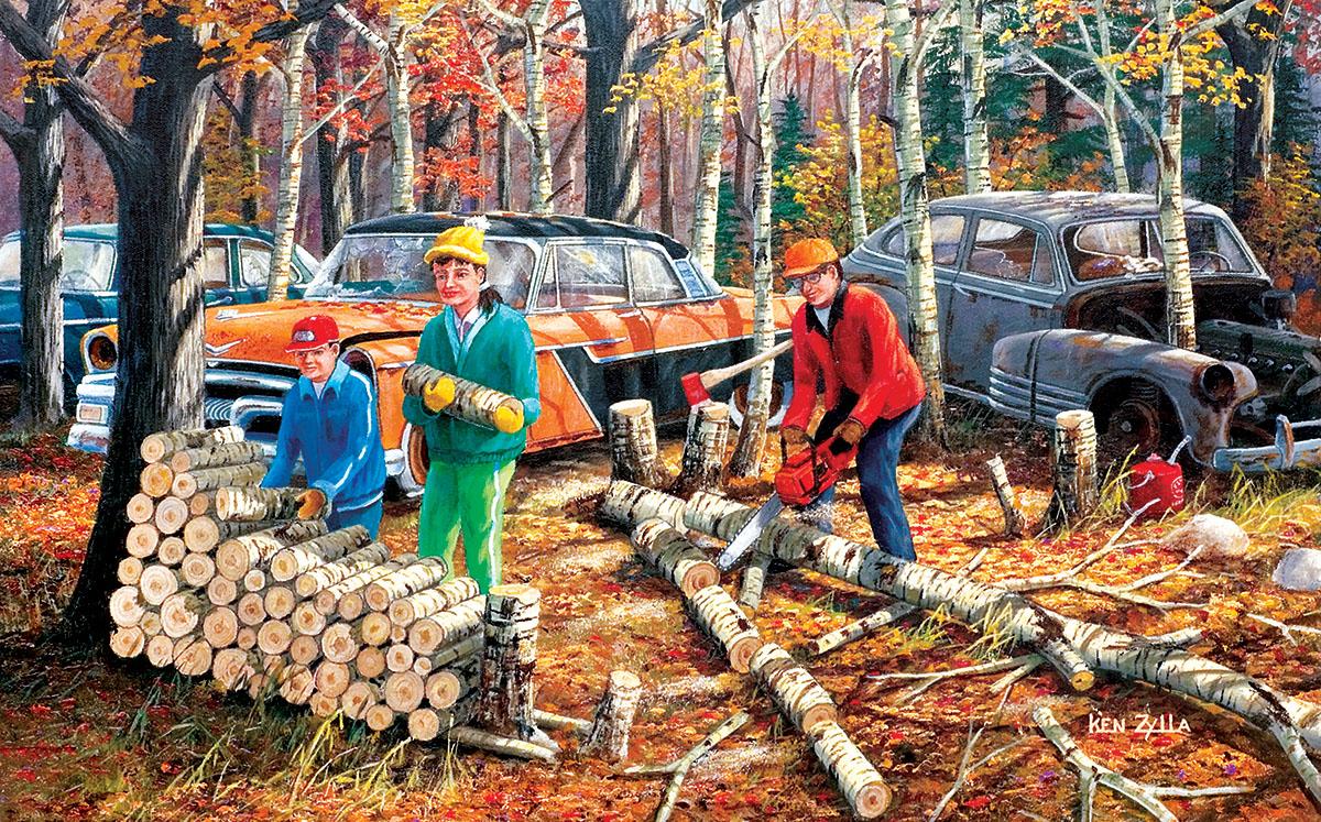Fall Chores Fall Jigsaw Puzzle