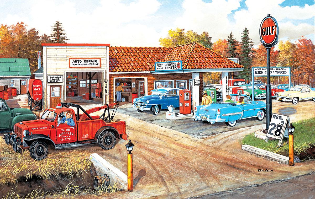 Full Service Nostalgic / Retro Jigsaw Puzzle
