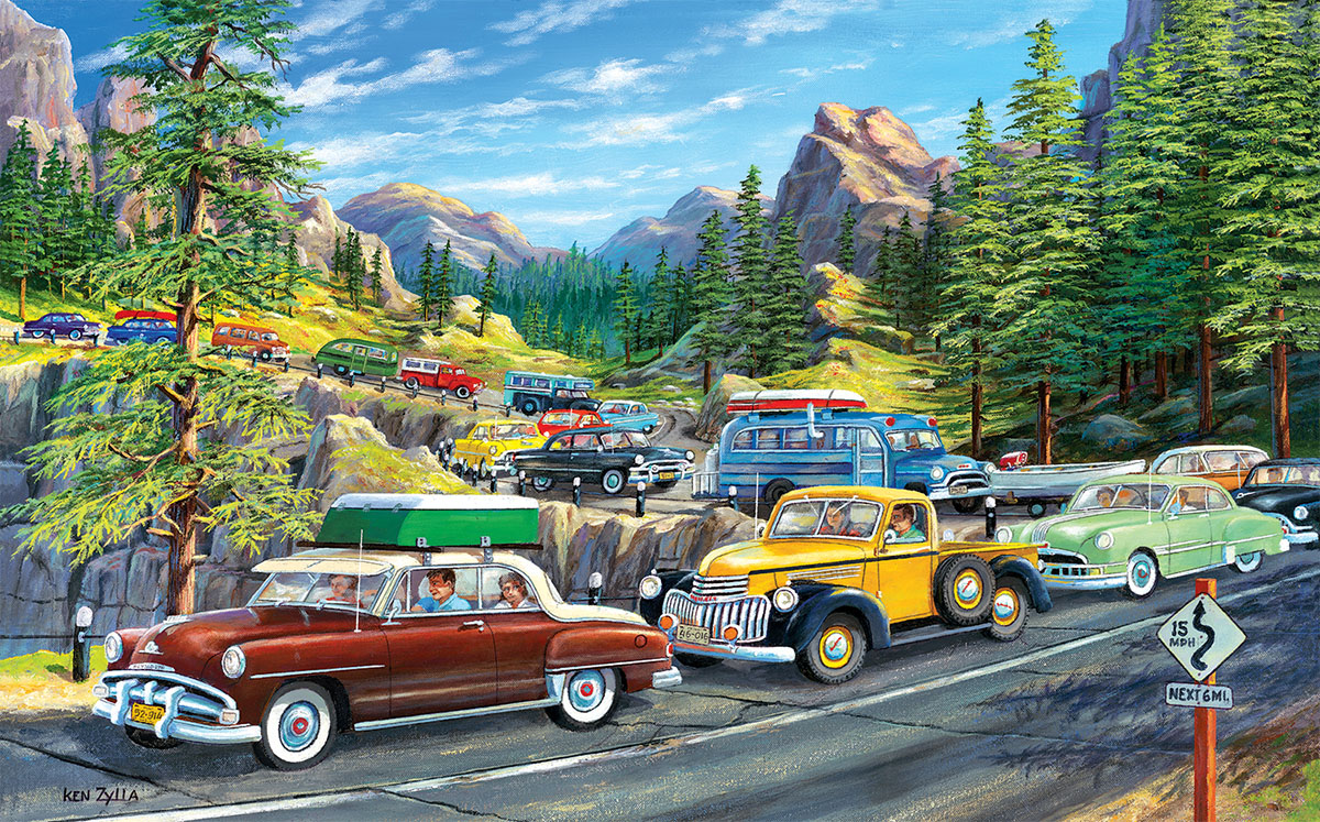 Holiday Traffic Cars Jigsaw Puzzle