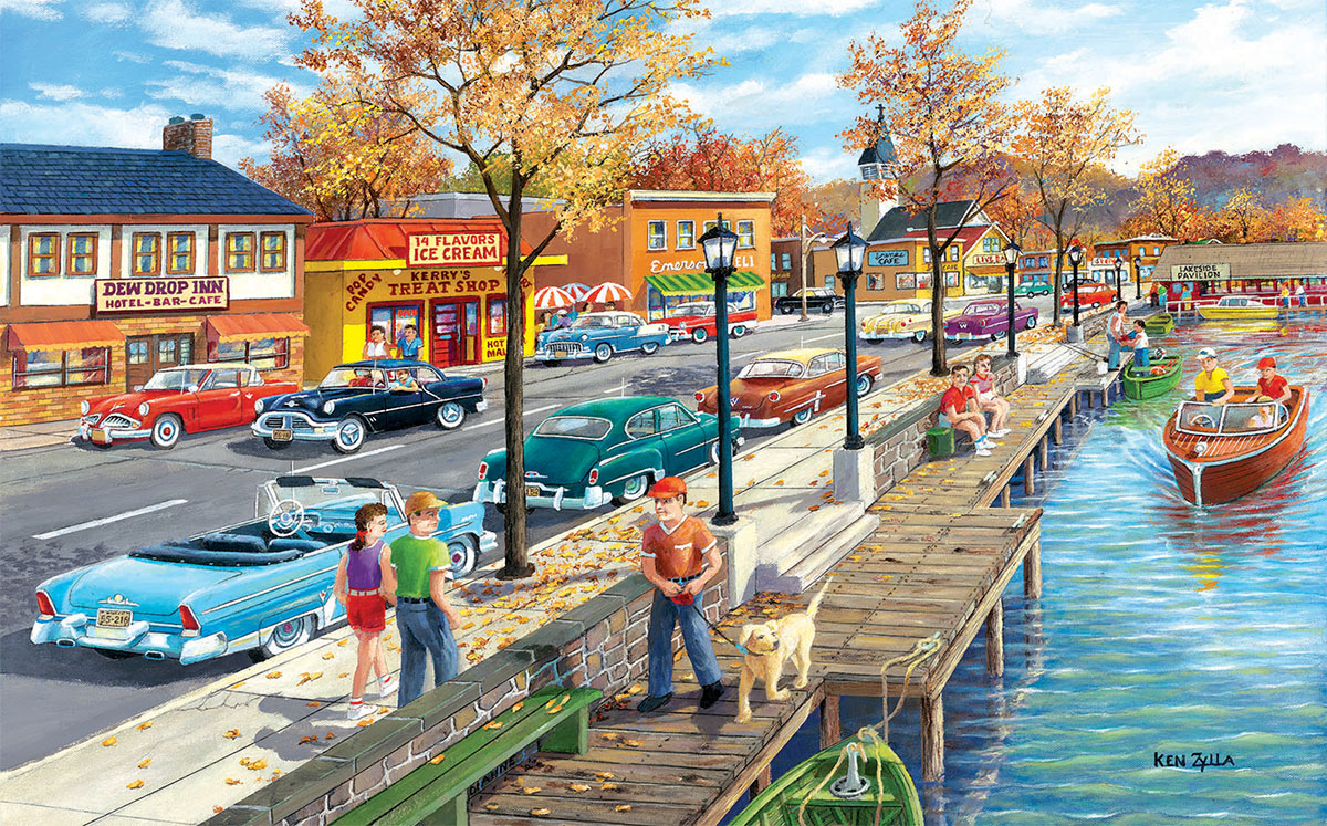 Shoreview Drive Seascape / Coastal Living Jigsaw Puzzle