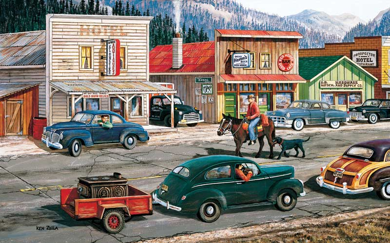 Along the Yukon - Scratch and Dent Cars Jigsaw Puzzle