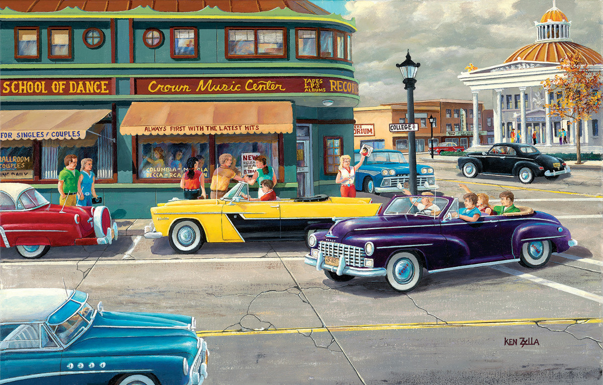 When We were Young Street Scene Jigsaw Puzzle