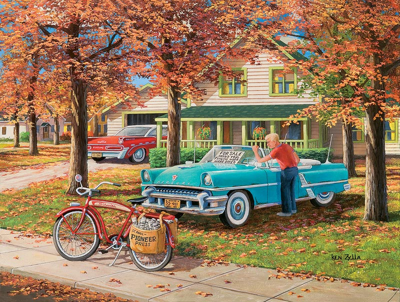 A Young Man's Dream Cars Jigsaw Puzzle