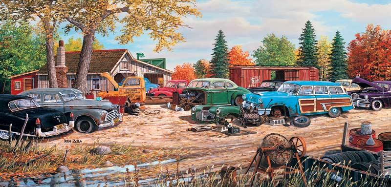 Junkyard Relics Countryside Jigsaw Puzzle