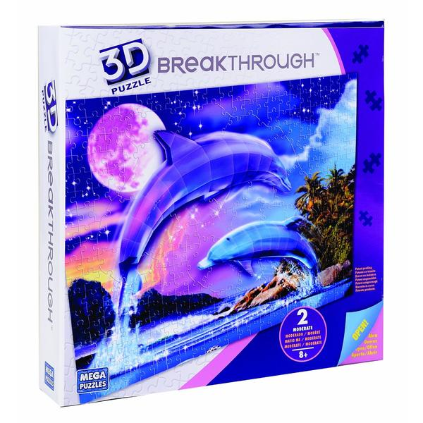 Real 3D Breakthrough - Marine Life Dolphins 3D Puzzle