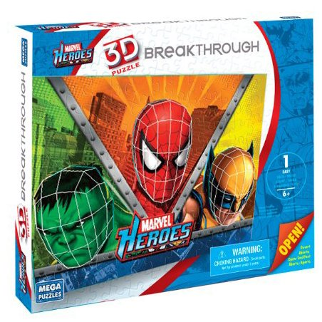 Real 3D Breakthrough - Marvel Heroes Cartoons 3D Puzzle