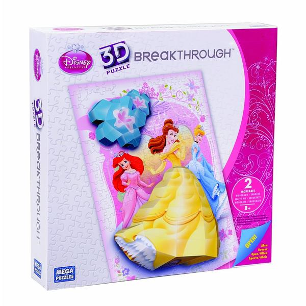 Real 3D Breakthrough - A Twirl of Magic Disney 3D Puzzle