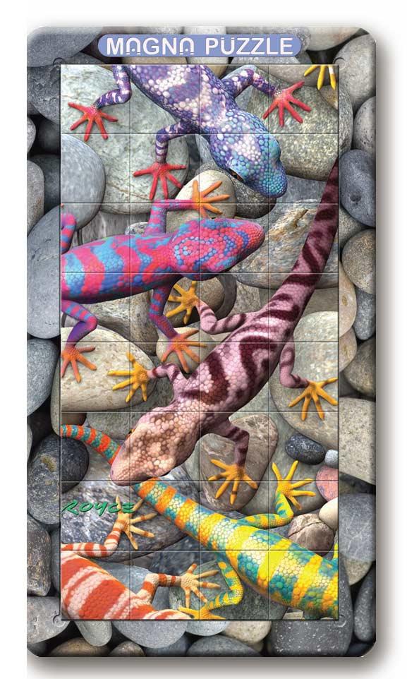 Geckos Reptiles / Amphibians 3D Puzzle