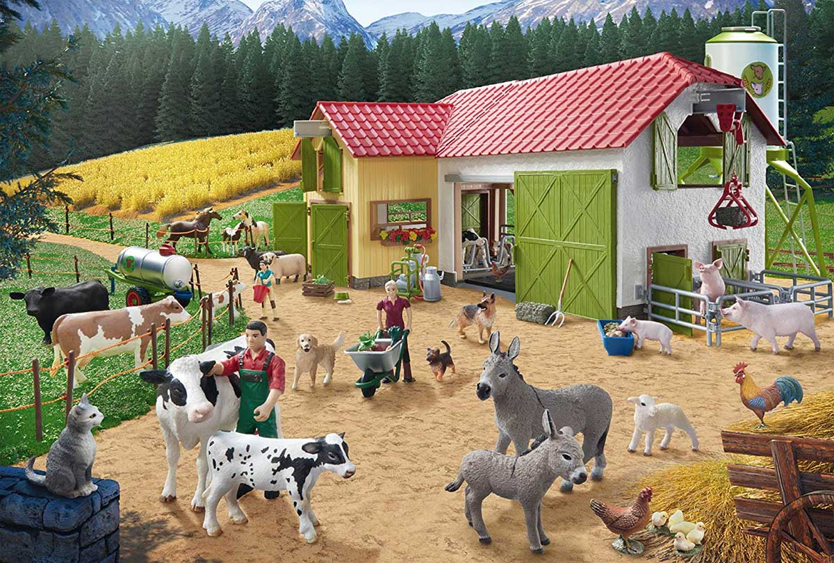 A Day At The Farm Farm Jigsaw Puzzle