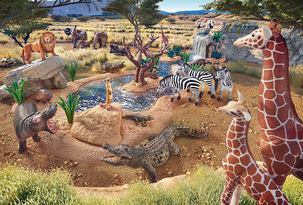 At The Watering Hole Animals Jigsaw Puzzle