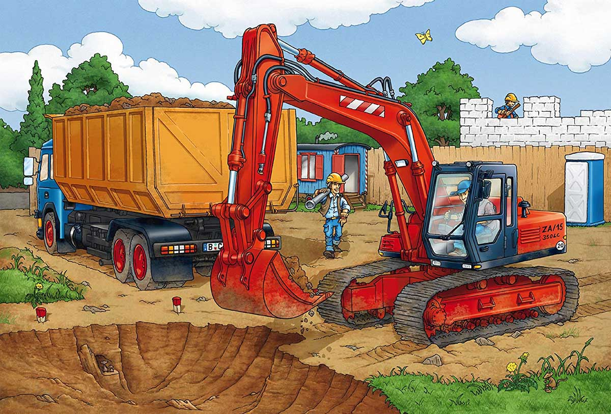 Construction Work Ahead Construction Jigsaw Puzzle